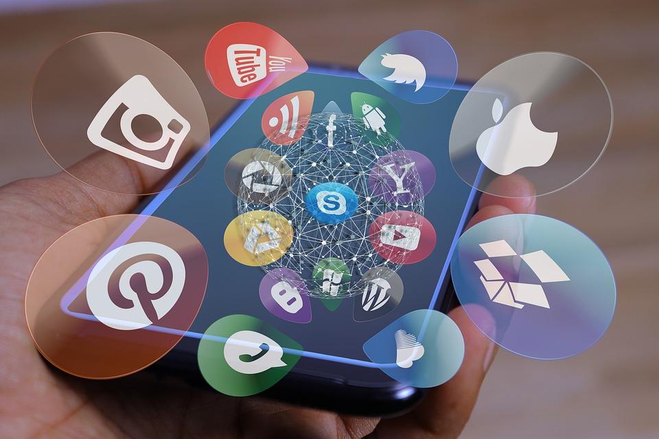 Soziale Medien, Sozial, Display, Icon, Smartphone