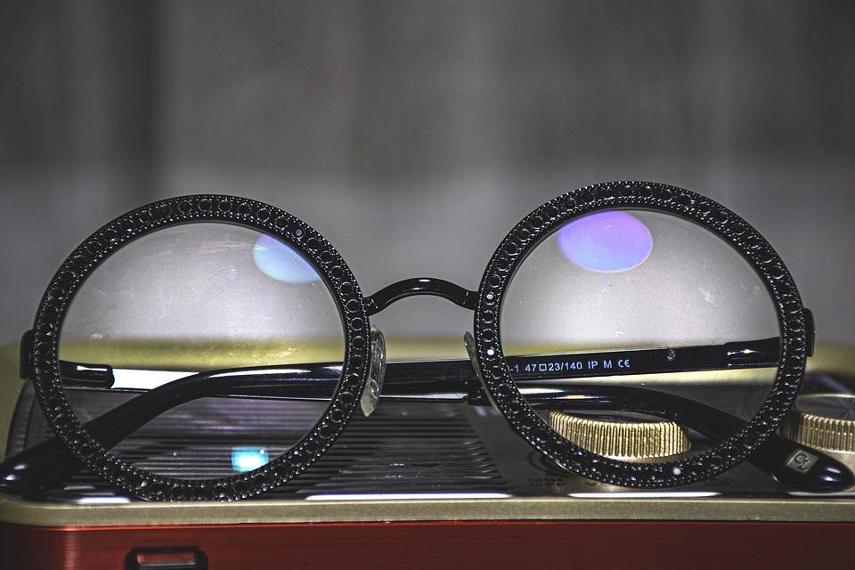 眼鏡, ブラック, レンズ, ガラス, 光, ビジョン, フレーム, ファッション, 女性, 技術, クリア