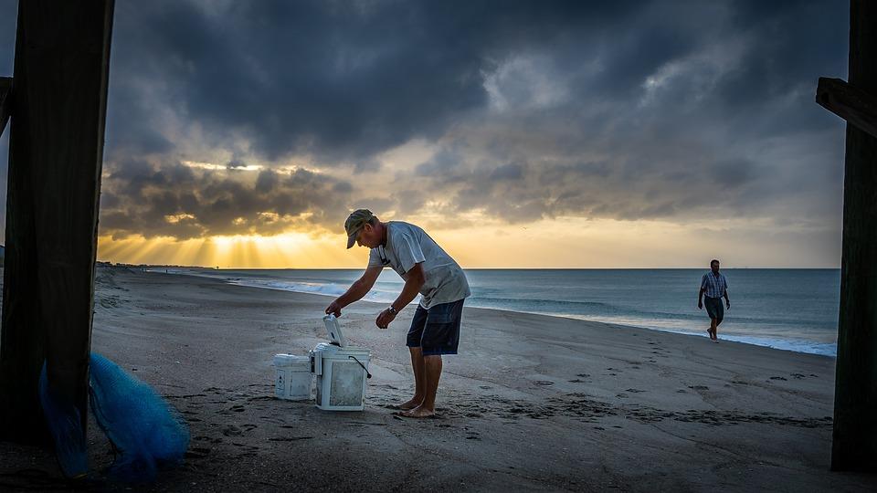 Beach, Sunrise, Emerald Isle, North Carolina, Ocean
