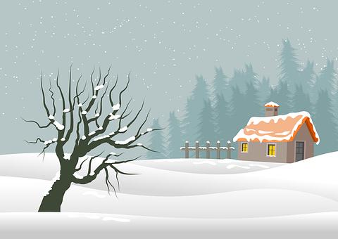 Christmas, Background, Landscape, Nature