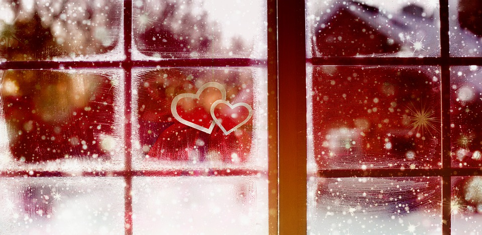 Window, View, Out, Christmas, Winter, Snow, Bokeh