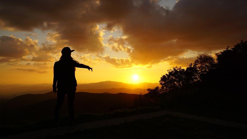 Nature, Shadow, Landscape, Korea, Silhouette, Sunset