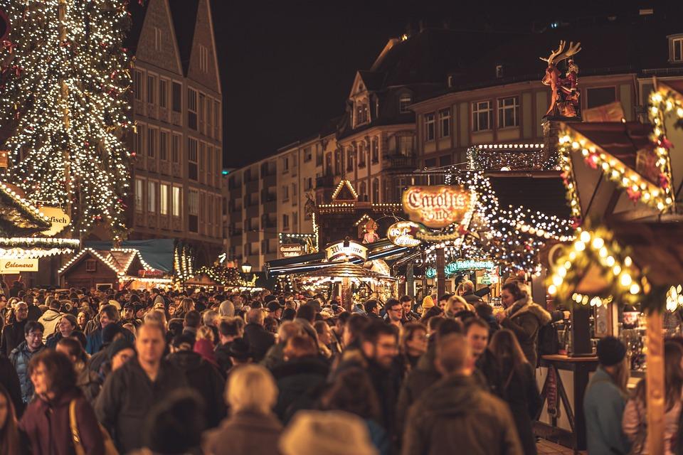 Weihnachtsmarkt, Nacht