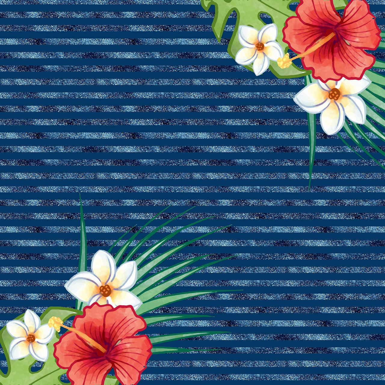 Tropical Floral Background Digital Free Image On Pixabay