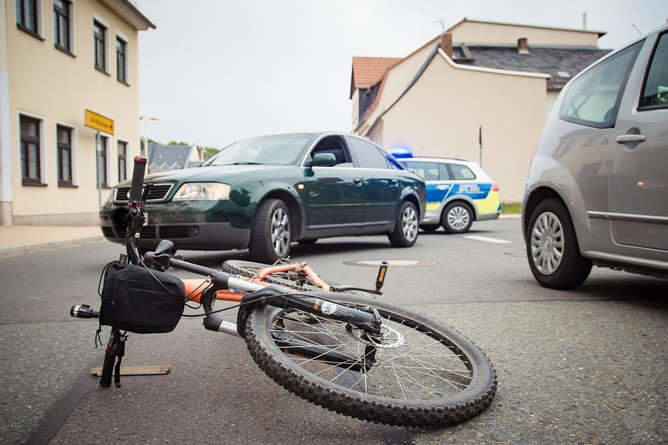事故, 警察, 自転車, 緊急, バイク事故