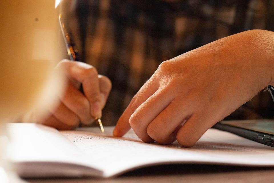 ペン, 書かれて, 女の子, 手紙, 紙, インク, 遊び, 教訓