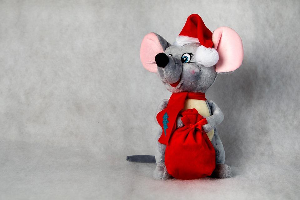 Nový Rok, Maskot, Symbol Nového Roku 2020, Myš, Potkan