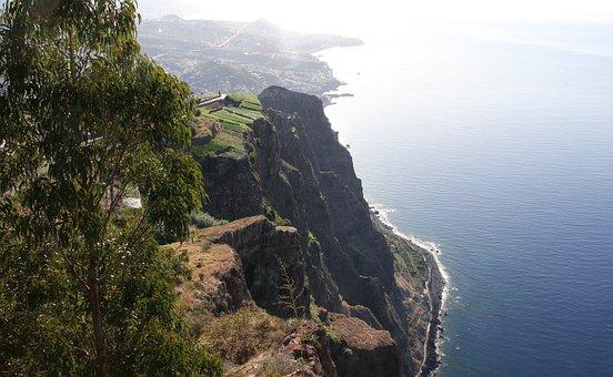 Madeira, Cabo, Girao, Skywalk, Klippen