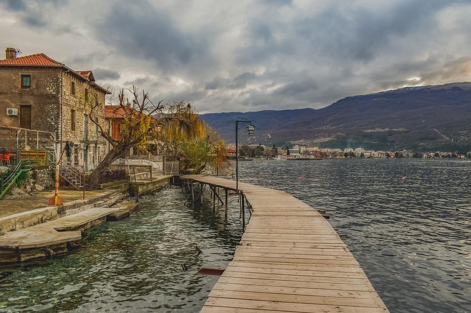 Mazedonien, Steg, Wasser