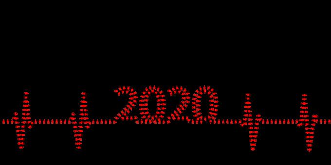 Ekg, Heart, 2020, Calendar, Peace