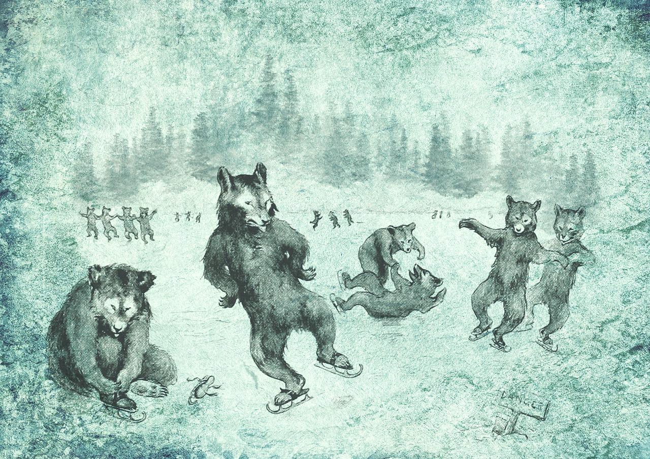этих винтажные картинки мишки на коньках вспоминаем самые интересные