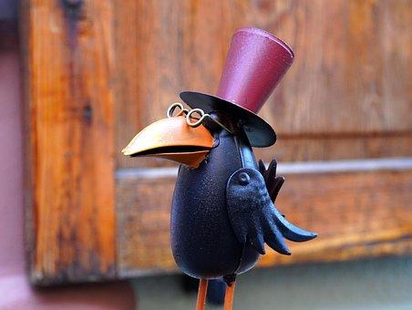 數字, 烏鴉, 鳥, 滑稽, 鴉雀, 裝飾, 雕塑
