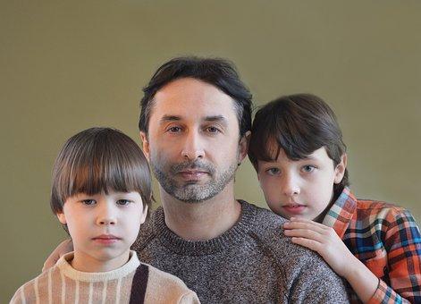 父, 息子, 家族, Fatherhood, 両親, のヘッドの家族, お父さん
