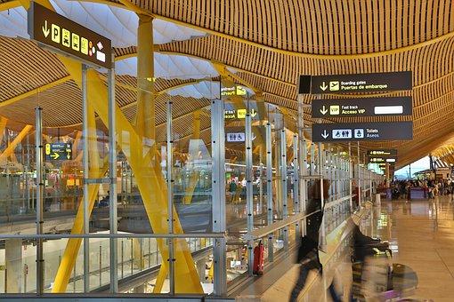 Aéroport, Tex Gratuit, Madrid, Espagne
