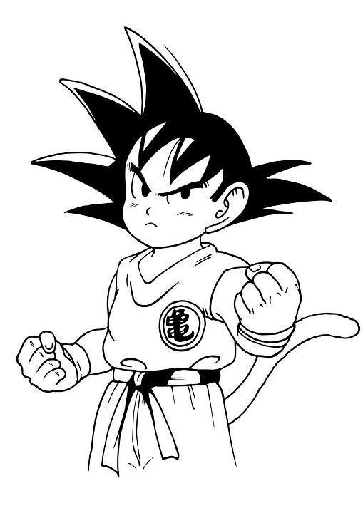 Goku Da Colorare Anime Immagini Gratis Su Pixabay