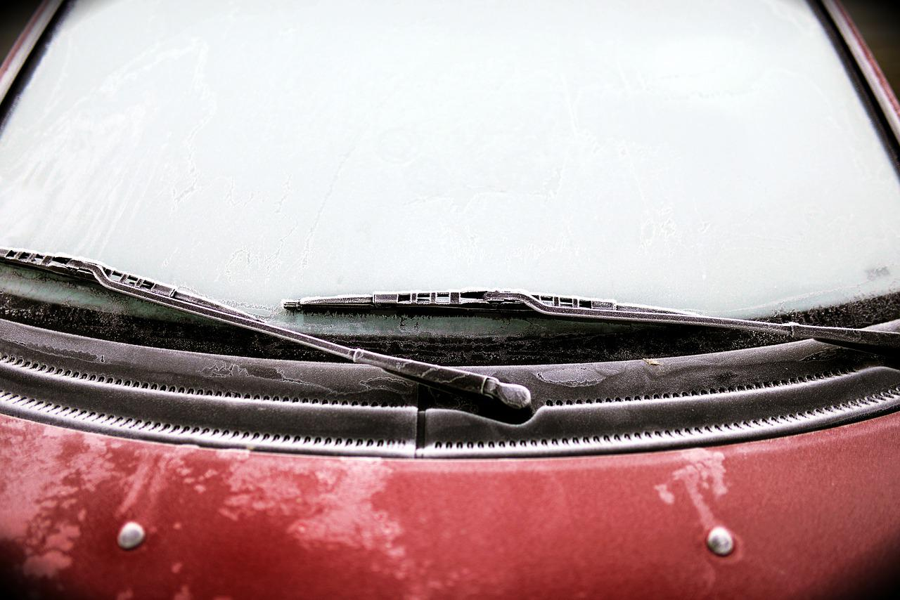 Wipers on a car