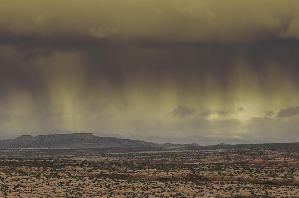 Storm Rain Desert - Free photo on Pixabay
