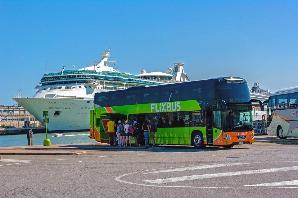 Venice, Flixbus, Ferry, Bus, Coach, Italy