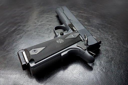 M1911, Pistol, Gun, Firearm, Handgun