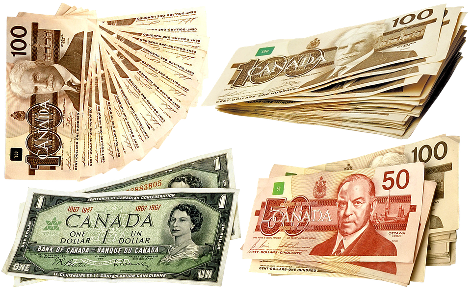 Money, Canadian Dollars, Currency, Dollars, Bank