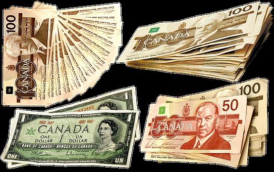 マネー, カナダドル, 通貨, ドル, 銀行, カナダ, 50