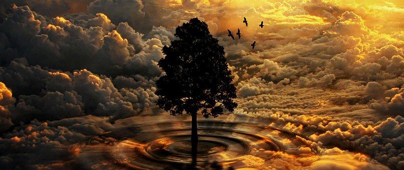 Φύση, Σύννεφα, Δέντρο, Ατμόσφαιρα