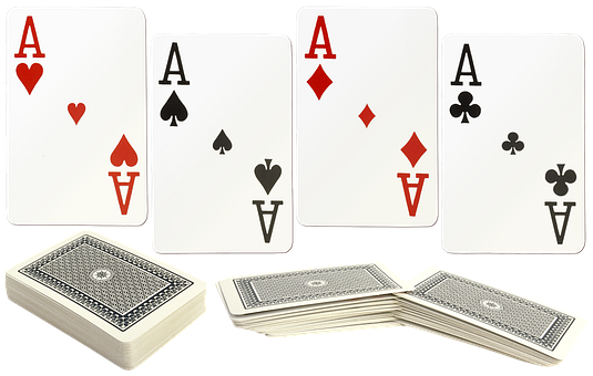 Playing Cards, Card Deck, Aces