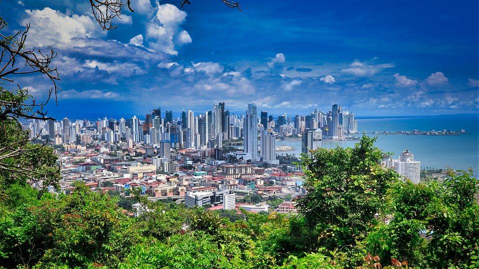 Cidade Do Panamá, Linha Do Horizonte, Litoral, Natureza