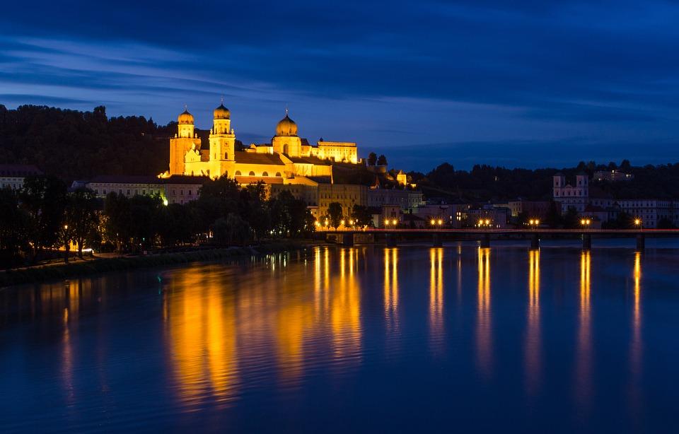 Passau, Natt, Arkitektur, Episkopala Se, Kväll