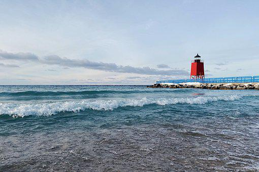 Lighthouse, Shore, Great Lakes