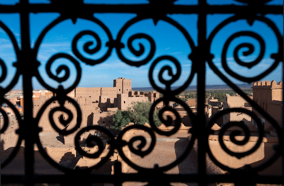 Maroko, Kasbah, Teralis, Afrika, Berber, Kota, Ksar