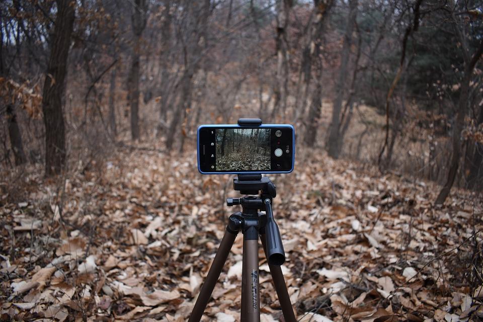 スマートフォン, カメラ, 写真, 動画, 撮影, 携帯電話, 三脚, 映画, Camera