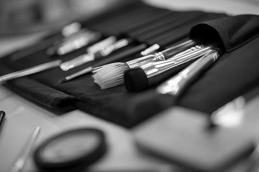 化粧, メイクアップ, 化粧品, ペイントブラシ, Schminkブラシ