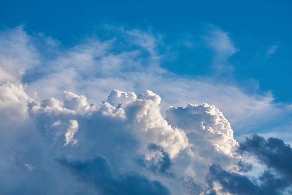 Pilviä, Taivas, Sää, Sininen, Huntu