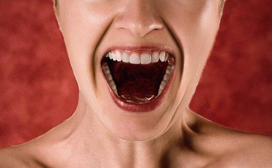 Scream, Shout, Woman, Fear, Anger