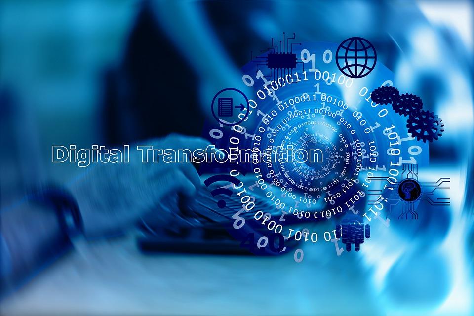 Digitization, Transformation, Man, Keyboard, Laptop