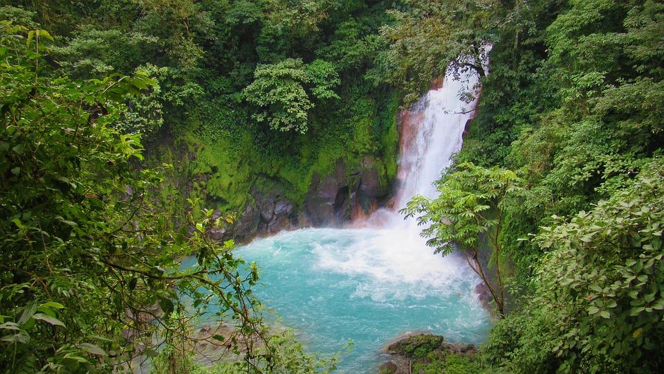 Chute D'Eau, Le Rio Celeste, Costa Rica, Eau, Nature