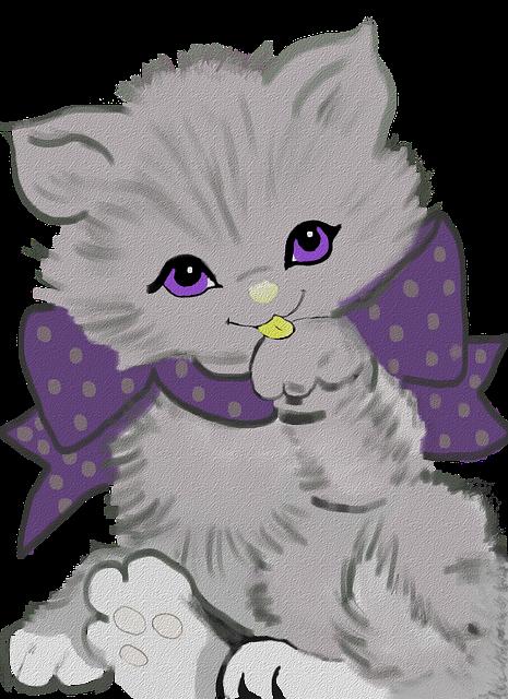 Kitty Purple Kitten Free Image On Pixabay