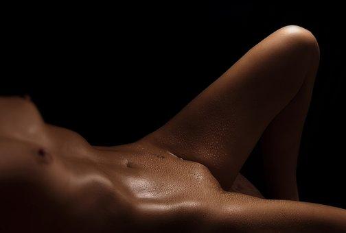 Nude, Artistic, Body, Oil, Sweat, Erotic