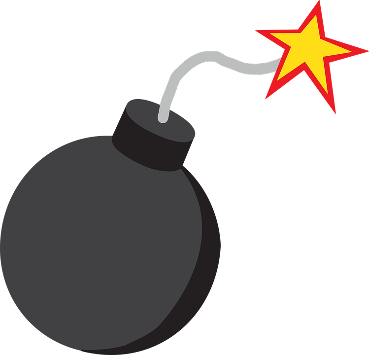 Bomba Granada Explosao Grafico Vetorial Gratis No Pixabay