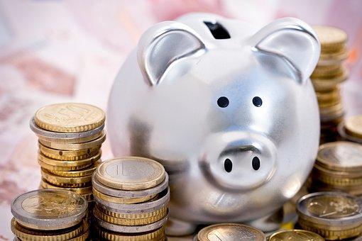 Tirelire, Cochon, Monnaie, Économie