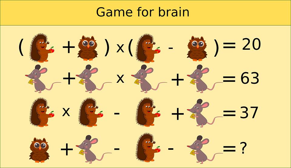 Teka Teki Matematika Logika Anak Gambar Vektor Gratis Di Pixabay
