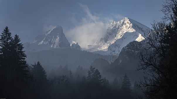 Mountains, Winter, Snow, Landscape