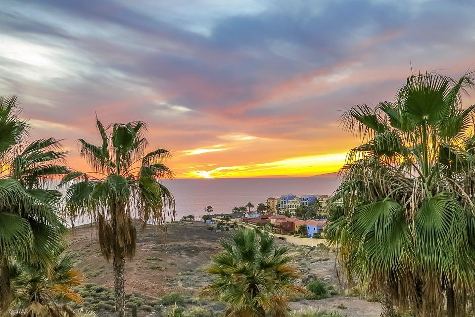 Tenerife, West, Landscape, Nature, Ocean, Beach, Sky