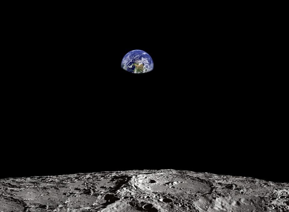 地球, 月, 表面, スペース, アポロ, Nasaの, ミッション, 探査, 宇宙飛行士, 世界, 土地