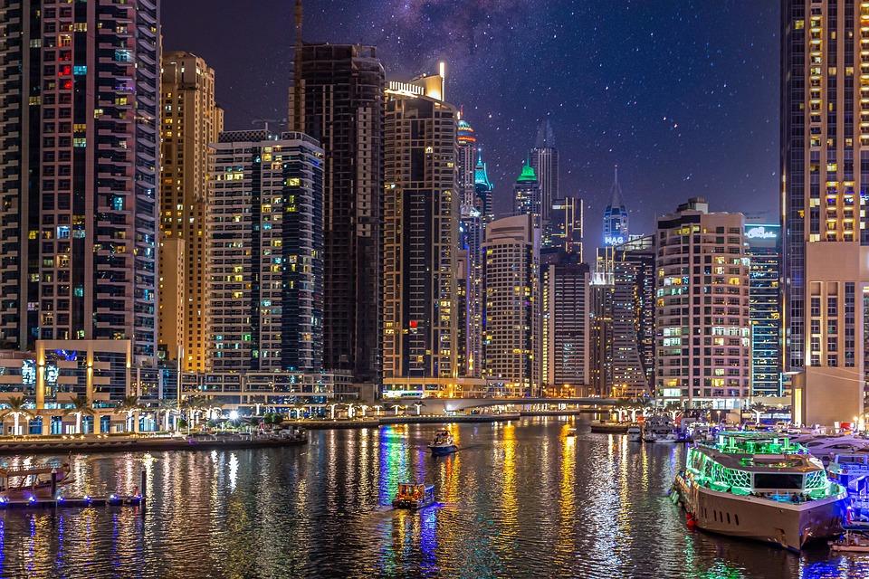 Dubai, Marina, U E A, Pemandangan, Arsitektur, Bangunan