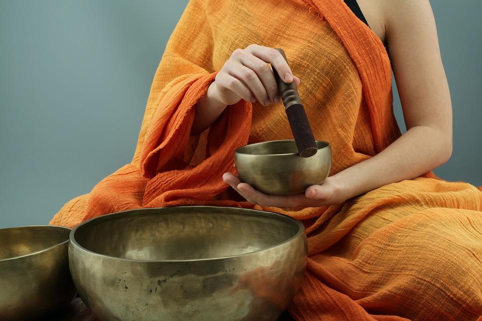 Klankschalen, Geluid, Meditatie, Bronzen