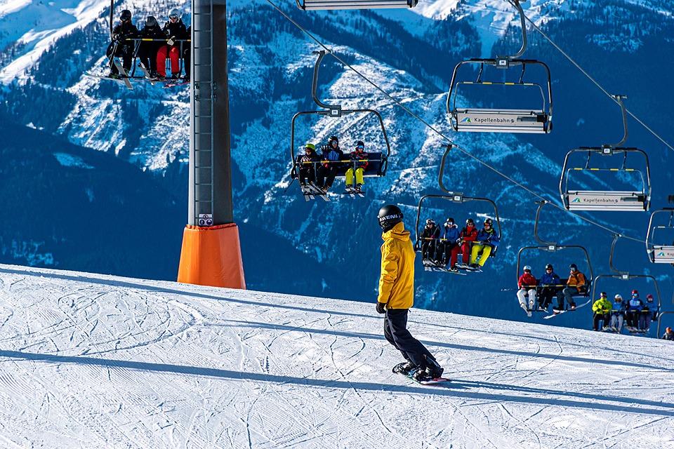 Snowboarding, Ski Resort, Slopes, Gondola Lift