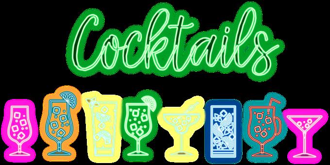 Al Neon, Cocktail, Bevande, Bar, Alcool