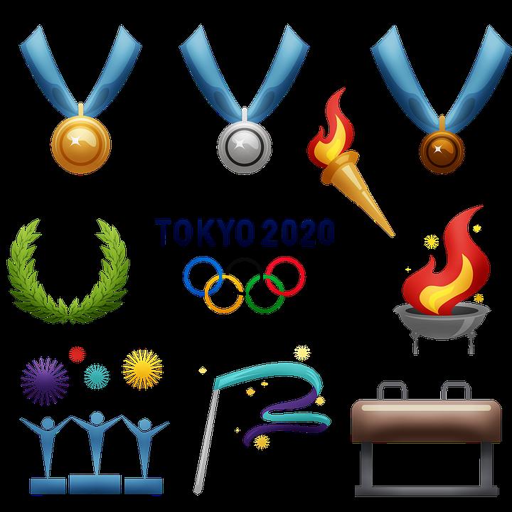 オリンピック, 2020, 東京, 夏季オリンピック, スポーツ, メダル, 受賞者, トロフィー, 競争